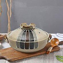 Japon Casserole Ronde En Céramique Avec Couvercle