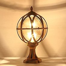 Jardin Colonne Lampe traditionnelle Globe de boule