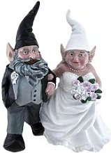 Jardin Gnome Décoration Couple nain Sculpture