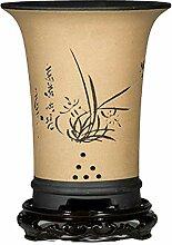 Jaune Pot de Fleurs Design avec Trou de Vidange