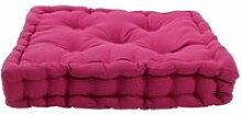 Jazz - pouf tapissier 100% coton fuchsia 40x40