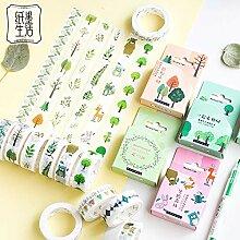 JDGS 12Pcs Petite Forêt Washi Tape Artisanat