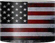 Jeiento Abat-jour vintage imprimé drapeau pour