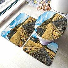 Jeju Island Lot de 3 tapis de bain antidérapants