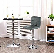 JEOBEST®2 pcs tabourets de bar chaise fauteuil