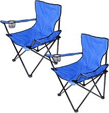 Jeobest - 2x Chaise Jardin Pliante Camping