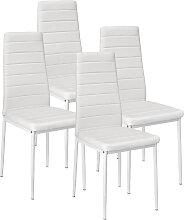 JEOBEST®4 x chaises de salle à manger chaise de
