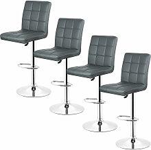 Jeobest - 4pcs *tabourets de bar chaise fauteuil