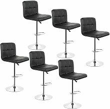 Jeobest - 6*tabourets de bar chaise fauteuil 6