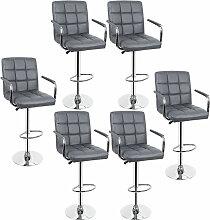 Jeobest - 6 tabourets de bar SET chaise de bar