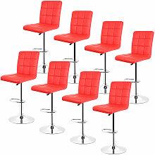 Jeobest - 8 pcs tabouret de bar chaise longue