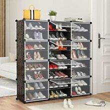 JEOBEST® Armoire à Chaussures 24 Cubes Meuble à