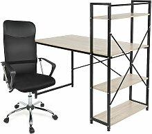 Jeobest - Bureau avec étagère + Chaise de Bureau