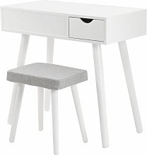 JEOBEST®Coiffeuse Moderne Coiffeuse Table de