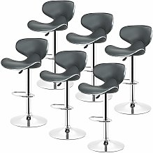 Jeobest - lot de 6 Chaise de bar tournante
