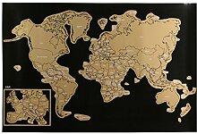 JET LAG - VO1254 - Carte du Monde à Gratter,