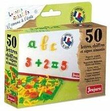 Jeujura coffret 50 lettres magnetiques cursives,