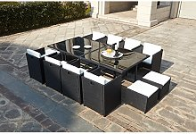 JFB Le Vito : Salon Jardin Noir encastrable en