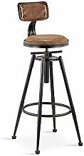 JH-tabouret de bar Chaise de Bar en Fer, Tabouret