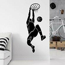 JHGJHGF Basket-Ball Sport Sticker Mural Joueur de