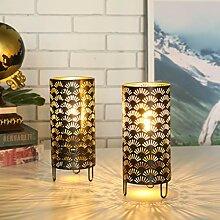 JHY DESIGN Lot de 2 Lampe de Table en Métal