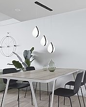 JHYPVII Moderne Table À Manger Lampe,LED 3-Flamme