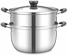 JHYS Vapeur en Acier Inoxydable, Pot de Soupe
