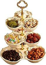 JIAChaoYi Assiette de Fruits en céramique