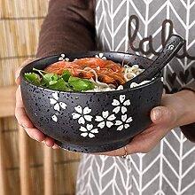 JIAChaoYi Bol Japonais en céramique Bol Ramen
