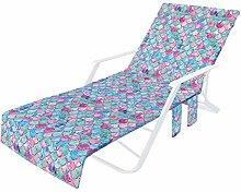 Jiaermei Housse de chaise de plage en microfibre