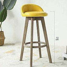 JIAJBG Chaise de bar en bois massif Rétro chaise