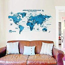 JIAJBG Murales Murales Carte Du Monde Stickers