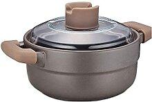 JiangKui Pot à Soupe Marmite à Ragoût Casserole