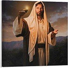 JIANGXIAO Poster Jésus avec lampe à huile sur