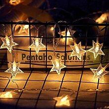 JIANMIN Guirlande lumineuse en forme d'étoile