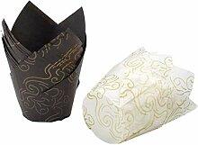 Jieddey Caissettes Cupcake,100 PCS Caissette