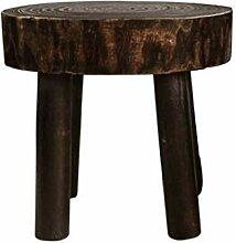 JIESD-Z Petit tabouret rond en bois massif 28 cm