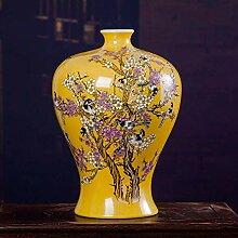 JIN Mobilier de Maison Porcelaine Jars Vase Bleu