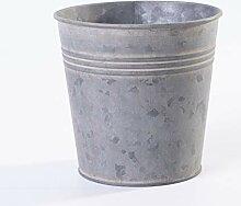 Jinfa   Pot en métal galvanisé   Zinc   Hauteur: