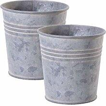 Jinfa   Pots en métal galvanisé   Zinc  