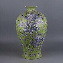 Jingdezhen-Vase de fleurs en porcelaine verte |