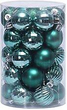 JINQI 4cm/34 Pièces Vert Ornements De Boules De