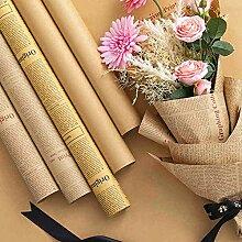 JINT Papier Kraft Emballage Cadeau 10 Pcs Feuilles