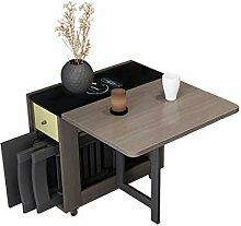 JISHIYU - Q 1,5 m 4 chaises pliantes Table de
