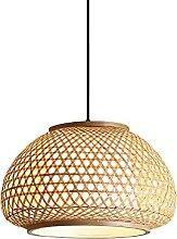 JISHUBO Lampe À Suspension Lanterne en Bambou,