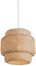 JISHUBO Lampe À Suspension Tissée en Bambou De