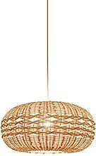 JISHUBO Lampe Suspendue en Bambou, Lampe Suspendue