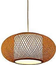 JISHUBO Lustre En Bambou Rétro E27, Lanterne En