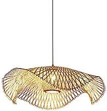 JISHUBO Lustre en Bambou Vintage E27, Lampe