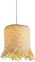 JISHUBO Lustre En Forme De Chapeau En Bambou